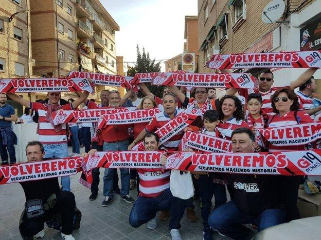 Los kilmetros que se hacen por devocin al escudo  Granada CF