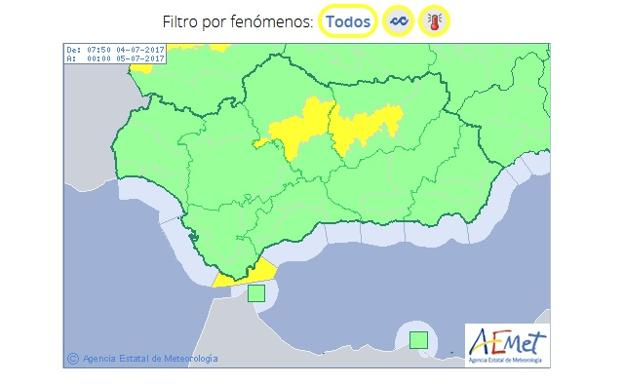 Aviso amarillo en ja n por altas temperaturas ideal - Tiempo los villares jaen ...