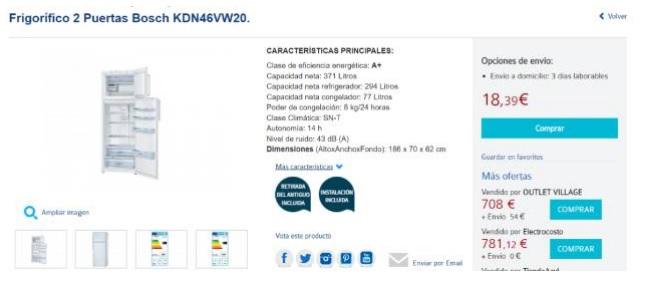 El frigor fico de 700 euros que carrefour vend a por 18 for Frigorificos bosch carrefour