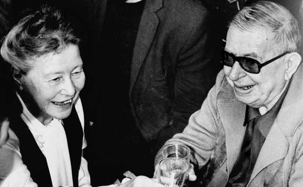 Simone de Beauvoir y Jean-Paul Sartre./
