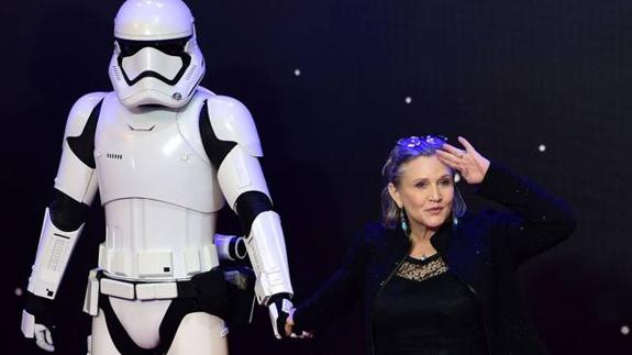 Carrie Fisher y su madre, en HBO