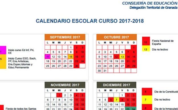Andalucia Ciclismo Calendario.Calendario Escolar 2017 18 En Andalucia Cuando Vuelven Los