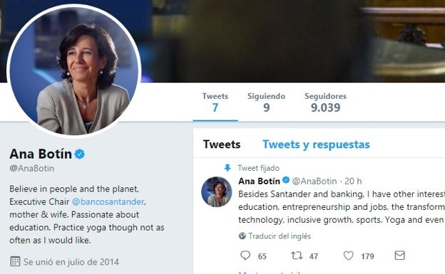 ¡Welcome to Twitter, Ana Botín!
