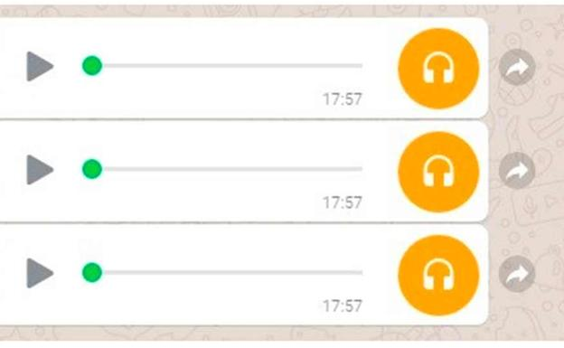Audios de Whatsapp. /