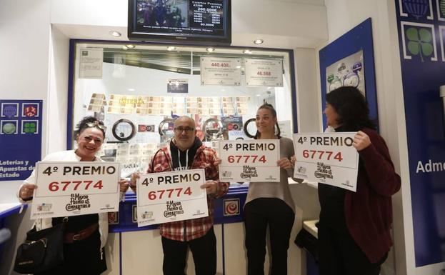 Lotería de Navidad: El cuarto premio 67774 deja 40.000 euros en ...