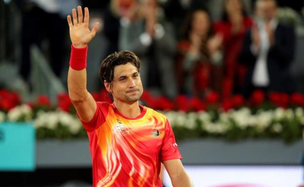 David Ferrer se despide del público de Madrid.