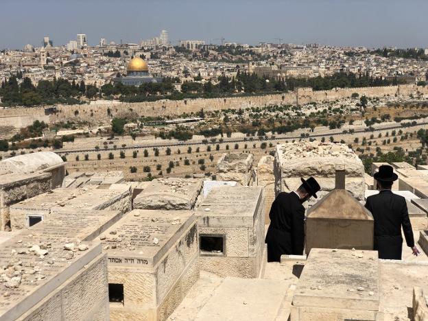 El cementerio del Monte de los Olivos en Jerusalén