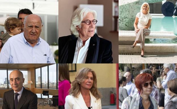 La lista de los 100 más ricos de España.
