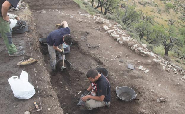 Detalel de la excavación.