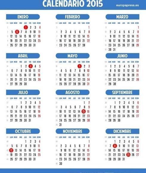 Calendario Con Santos.Semana Santa 2015 Jueves Viernes Santos Calendario Laboral